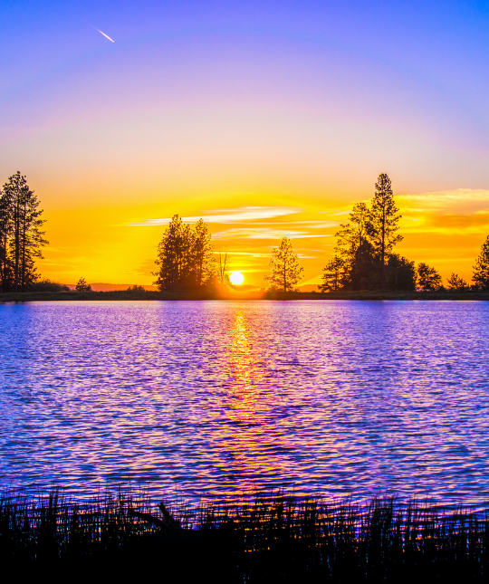 image of sunrise on a lake