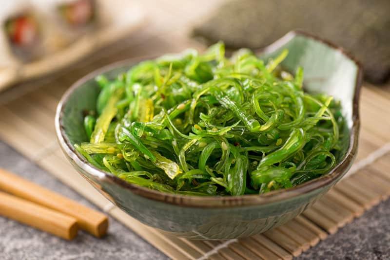 Seaweed as a food in salad
