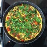 vegetarian guacamole omelette